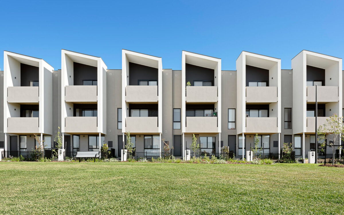 St Albans Townhomes Streetscape 3 storey close