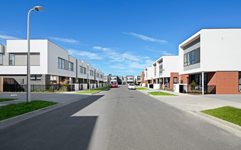 St Albans Townhomes Streetscape 4