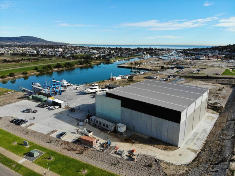 Boatyard Martha Cove Drone