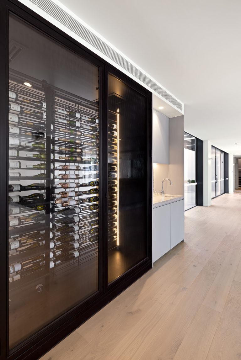 The Granton Brighton wine cellar