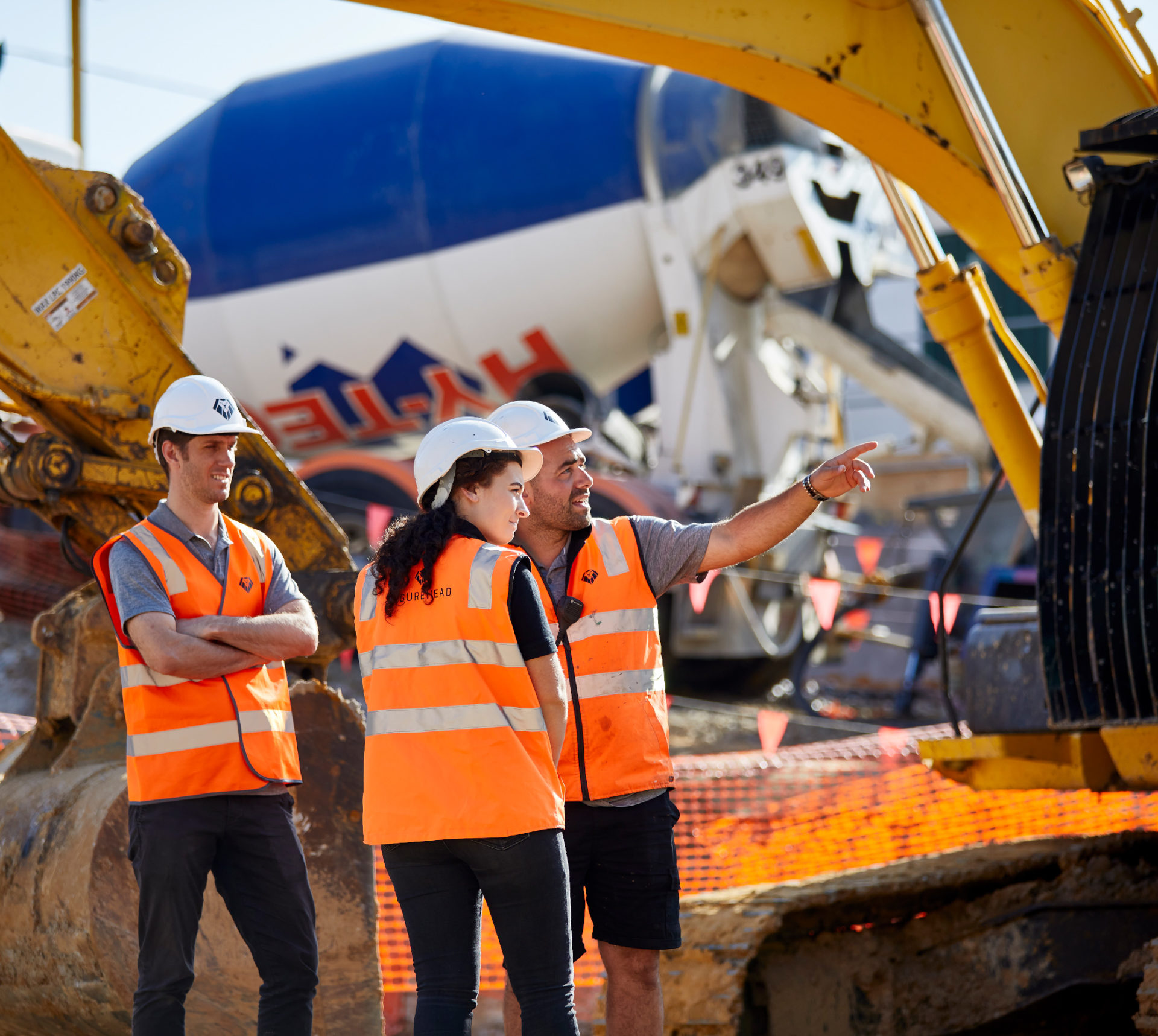 Construction Site Men Women