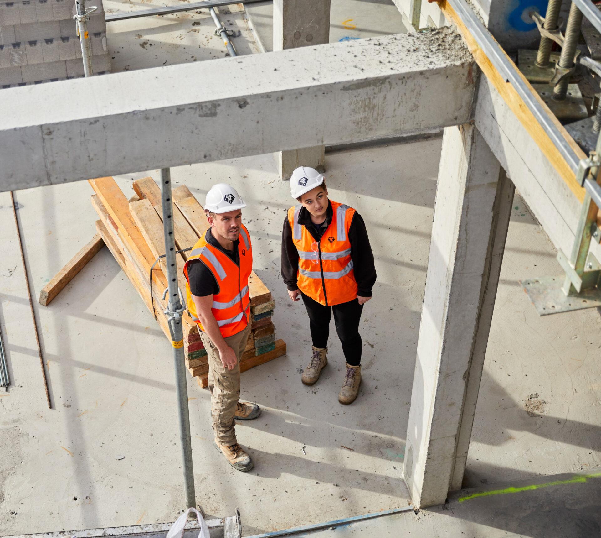 Man Woman Construction