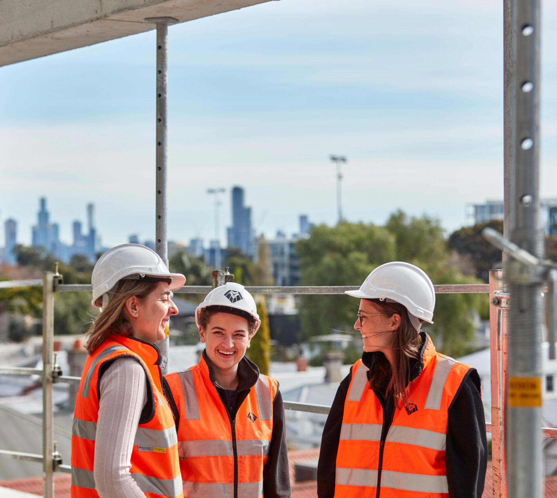 Women Smiling Construction